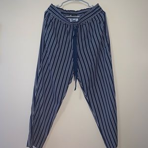 Striped cloth pants from Zara